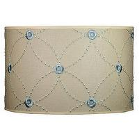 Lighting - 16 petal linen drum shade - lampshade, drum shade