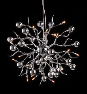 Lighting - Chrome Branches and Balls 23 - chrome, branch, chandelier