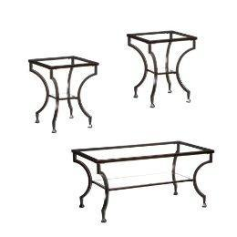 3Pc Cocktail Table/ End Table Set, Black : Target