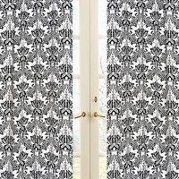 Window Treatments - Sophia Curtain Panel Set�? ::�? Toile and Damask Girls Bedding�? ::�? Big Girl Bedding�? ::�? Home - curtains, black, white, pink, bow, damask