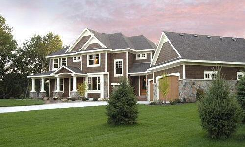 Dark Brown with White Trim House