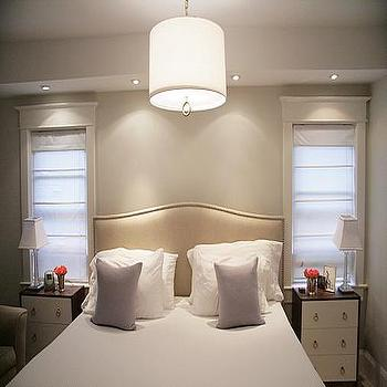 Greige Paint, Contemporary, bedroom, Benjamin Moore Classic Gray, Aubrey & Lindsay