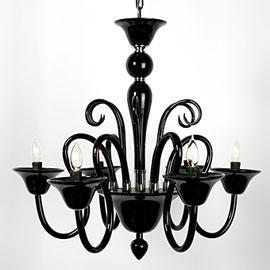 Lighting Calais Chandelier Black Hanging Lamps
