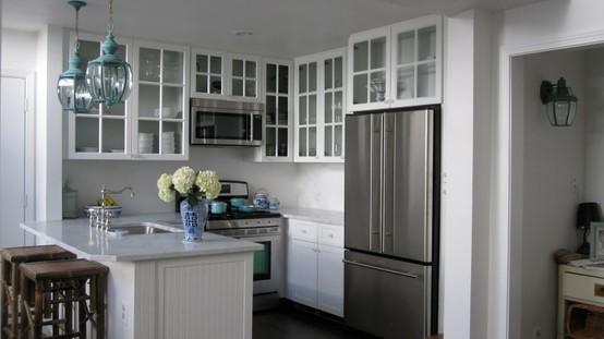 Turquoise Blue Lanterns - Transitional - kitchen - Grace Happens
