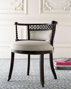 Seating - Chairs�?Seating�?-�?The Horchow Collection - Annie Selke, chair, chic