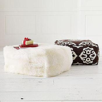 Sheepskin Pouf, west elm