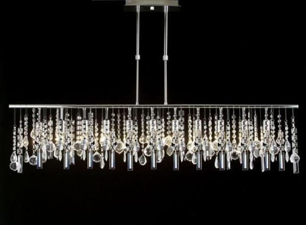 ... 518/11 Gallery Modern / Contemporary 11 LIGHT CRYSTAL LIGHTING PENDANT