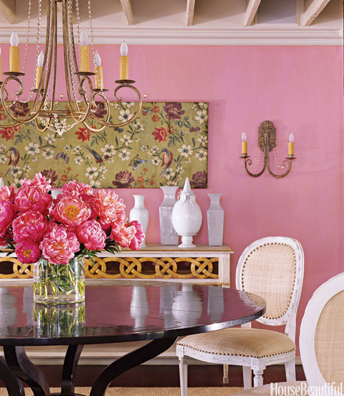 Happy Colors To Paint A Room Alluring With Pink Dining Room Wall Color Picture