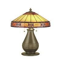 Lighting - Dale Tiffany TT101170 Grinnell Art Glass 2 Light Table Lamp - Lighting by Lux - tiffany lamp