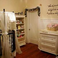 HGTV - nurseries - girl's nursery, round crib, round crib nursery, girl round crib, girls round crib, espresso round crib, white changing table, nursery bookcase,