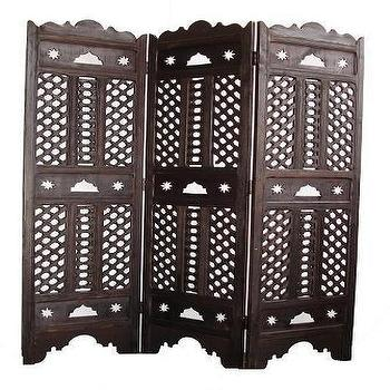 Decor/Accessories - Taza room divider, moroccan room panel divider - room divider, screen, wood, moroccan