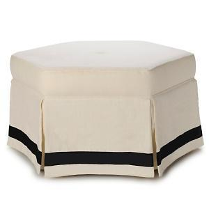 Seating - Nate Berkus Hexagon Cocktail Ottoman at HSN.com - hexagon, ottoman