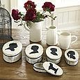 Decor/Accessories - Ballard Designs Silhouette Boxes - oval, silhouette, boxes