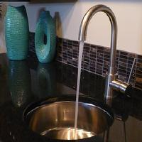 miscellaneous - glass, tiles, , , S/S, , faucet,  black granite with the glass tiles