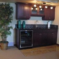 miscellaneous - granite, , , beverage, fridge,  Bar style kitchen in basement