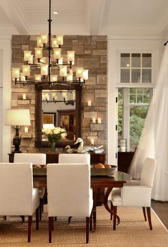 Dining Room on Dining Room Accent Wall  White Dining Chairs  Parsons Dining Chairs