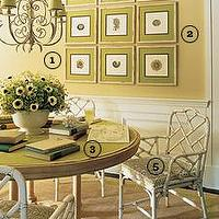 dining rooms - breakfast room with bamboo chairs, bamboo chairs, white bamboo chair, faux bamboo chair, white faux bamboo chairs,  breakfast