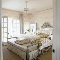 bedrooms - bedroom, neutral, sisal, rug, french, doors,  bedroom, neutral  romantic