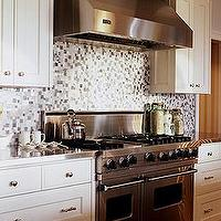 Sarah Richardson Design - kitchens - gray, white, Saltillo, tiles, white, ivory, kitchen, cabinets, stainless, steel, countertops, appliances, kitchen,