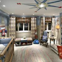 Candice Olson - nurseries - blue, red, compass, white, rug, plaid, candice olson nurseries, candice olson nursery, candice olson rooms, candace olson design, candice olson interior design, candice olson,