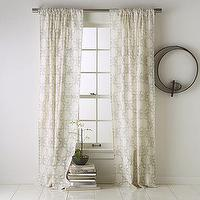 Window Treatments - Carved-Circles Window Panel | west elm - window, panels, drapes, ivory, cream