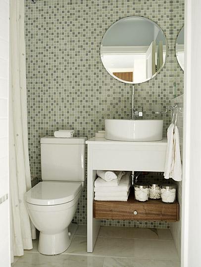 Green glass tiles contemporary bathroom sarah for Sarah richardson bathroom designs
