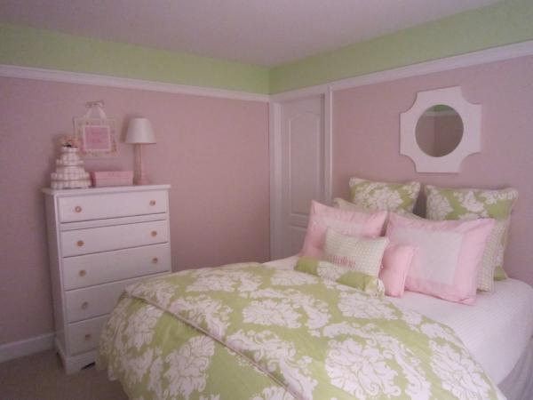 pink and green girl 39 s room transitional nursery. Black Bedroom Furniture Sets. Home Design Ideas