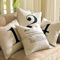 Pillows - Number Pillow Covers | Pottery Barn - pillows