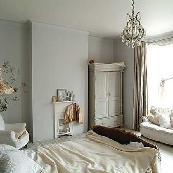 bedrooms - distressed armoire, whitewashed armoire, whitewashed distressed armoire, distressed whitewashed armoire, bedroom armoire, bedroom couch, shabby chic bedroom,