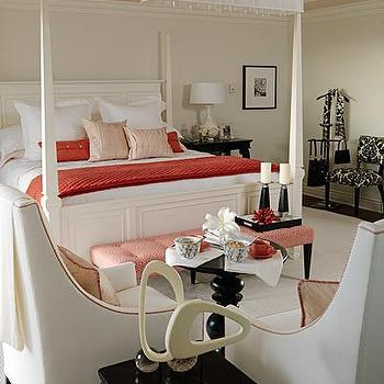 Sarah Richardson Design - bedrooms: sarah richardson bedroom, sarah richardson bedrooms, canopied bed,  Coastal coral bedroom design with ivory