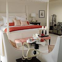 Sarah Richardson Design - bedrooms - sarah richardson bedroom, sarah richardson bedrooms, canopied bed,  Coastal coral bedroom design with ivory