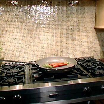 Glass Tile Backsplash, Transitional, kitchen