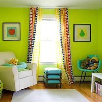nurseries - nursery, ivory, glider, blue, lamp, apple, green, walls, paint, color, blue, green, nursery,  bright nursery  bright green walls,