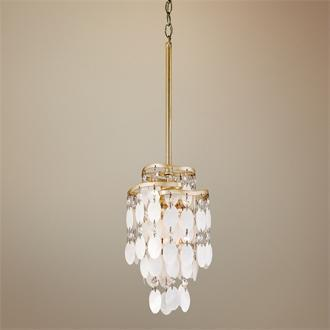 Lighting - Dolce Capiz Shell 7 - chandelier, shell, capiz