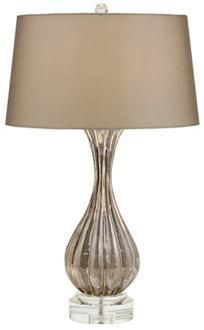 Lighting - Cagney Shimmer Glass Table Lamp | LampsPlus.com - lamp