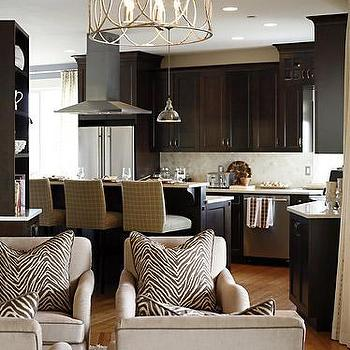 Sarah Richardson Design - kitchens: espresso cabinets, espresso kitchen cabinets, stained cabinets, stained kitchen cabinets, espresso kitchen island, sausalito chandelier,