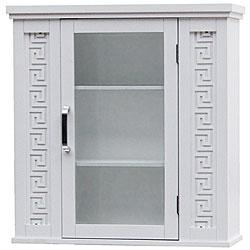 Bath - Greek Key Wall Cabinet | Overstock.com - cabinet