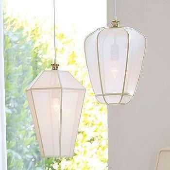Lighting - Sheer Lanterns | Pottery Barn - lanterns