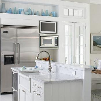 Kitchen Niche, Transitional, kitchen, Sherwin Williams Conservative Gray, Molly Frey Design