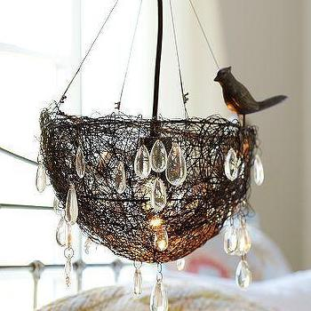 Lighting - Nest Pendant | Pottery Barn - nest, pendant