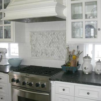 kitchens - kitchen, soapstone countertops, carrera marble backsplash, white cabinets with soapstone countertops, white kitchen cabinets with soapstone countertops,