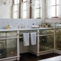 Traditional Home - bathrooms - mirrored bathroom vanity, mirror bathroom vanity, mirror washstands, mirrored washstands, antiqued mirrored vanity, antiqued mirrored bathroom vanity, antiqued mirrored washstands,