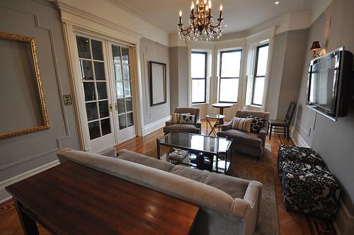 Gray Rooms - Transitional - living room - Benjamin Moore Silver Fox ...