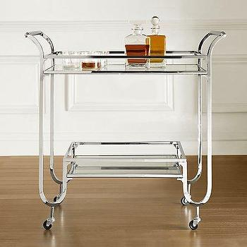 Storage Furniture - Duncan Bar Cart- Resoration Hardware - bar cart