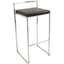 Seating - Fuji Black Stacker Bar Stool | Overstock.com - stool