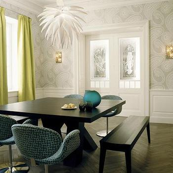 Dining Room Wainscoting, Contemporary, dining room, Kate Hume