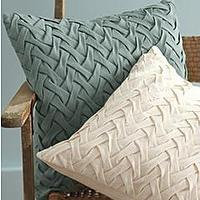 Pillows - Garden Fence Pillow Cover - Garnet Hill - lattice, pillow