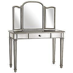 Storage Furniture - Pier 1 Imports - Hayworth Vanity & Mirror - hayworth, mirrored, vanity