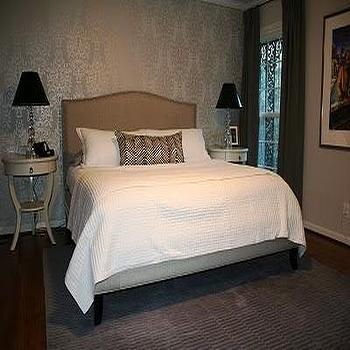 Colette Bed, Transitional, bedroom, Benjamin Moore balboa mist