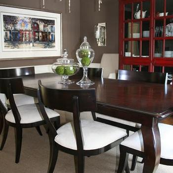 Whitall Brown, Transitional, dining room, Benjamin Moore whitall brown